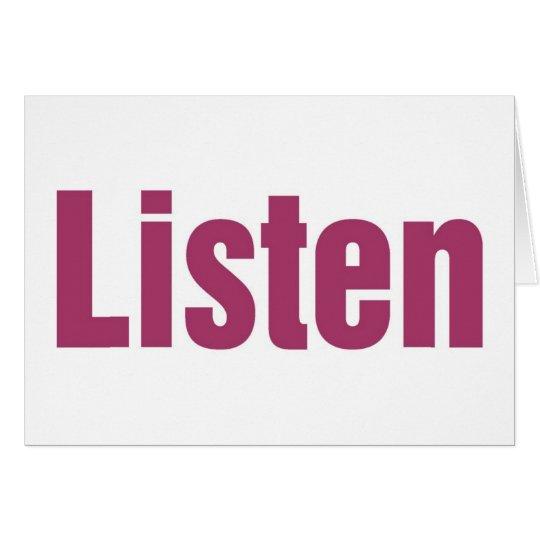 LISTEN CARD