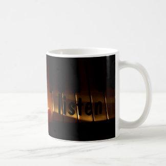 listen coffee mug