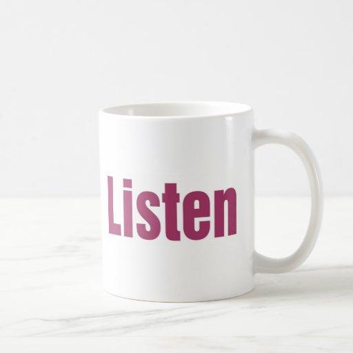 LISTEN COFFEE MUGS