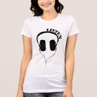 Listen Headphones Women's Fitted T T-Shirt