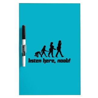 Listen here, noob! dry erase board