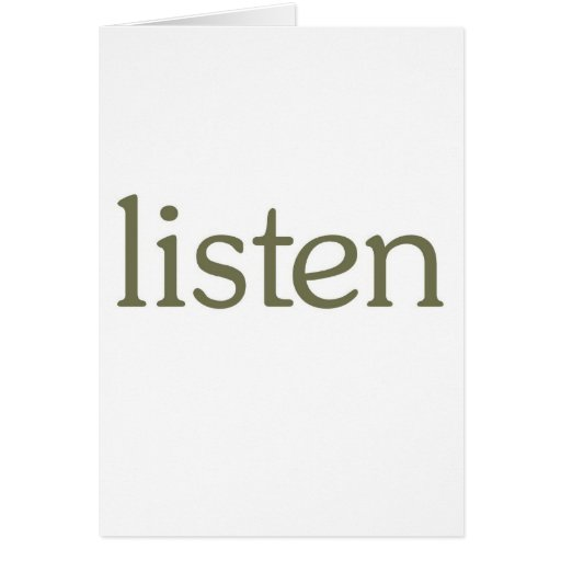 Listen (learn) card