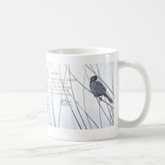 """listen"" classic white coffee mug"