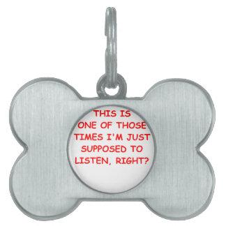 listen pet tags