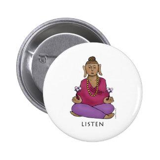 Listen Pinback Button