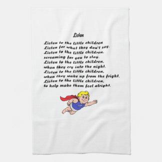 Listen Poem with a Super Boy Towel