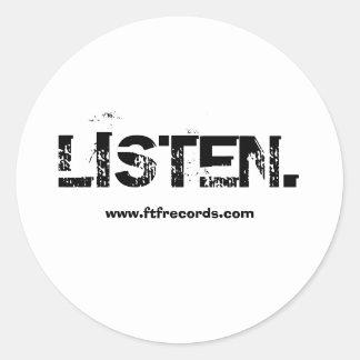 'LISTEN.' Sticker