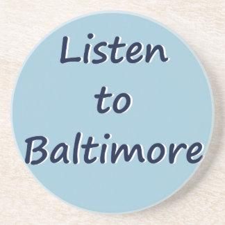 Listen to Baltimore Drink Coaster
