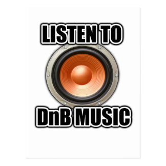 LISTEN TO DNB MUSIC Drum and Bass gear Postcards