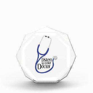 Listen To Doctor Acrylic Award