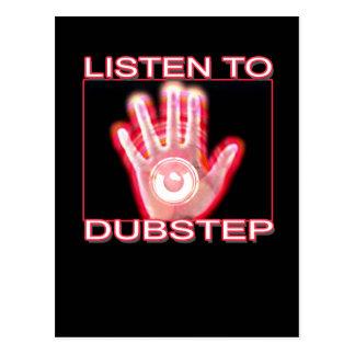 LISTEN TO DUBSTEP POSTCARD