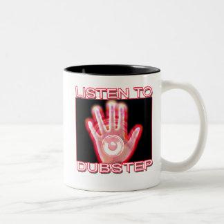 LISTEN TO DUBSTEP Two-Tone COFFEE MUG