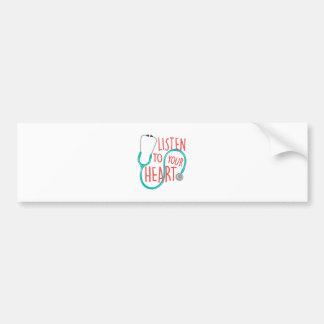 Listen To Heart Bumper Sticker