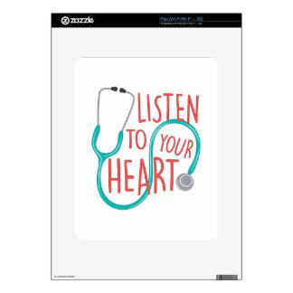 Listen To Heart iPad Decals