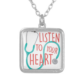 Listen To Heart Silver Plated Necklace