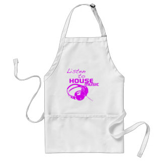 Listen to House Music Adult Apron