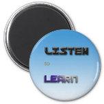 Listen to Learn Fridge Magnets