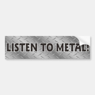 Listen To Metal, Heavy Metal Music Sticker