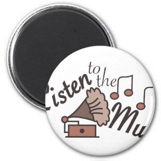 Listen To Music 2 Inch Round Magnet