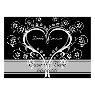 Listen To My Heart Affordable Save The Date Cards Large Business Cards (Pack Of 100)