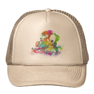 Listen to Nature/Listen to your heart T-SHIRT Mesh Hats