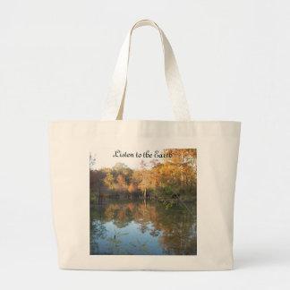 Listen to the Earth Jumbo Tote Bag
