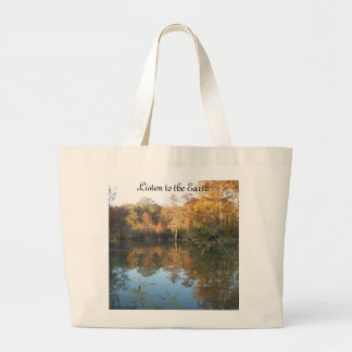 Listen to the Earth Large Tote Bag