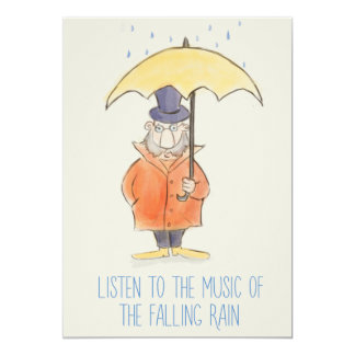 LISTEN TO THE MUSIC OF THE FALLING RAIN CARD