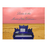 Listen to the Music of the Universe Art Postcard