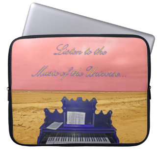 Listen to the Music of the Universe Collage Computer Sleeve