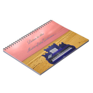 Listen to the Music of the Universe Collage Spiral Note Book