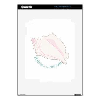 Listen To The Ocean iPad 2 Decals