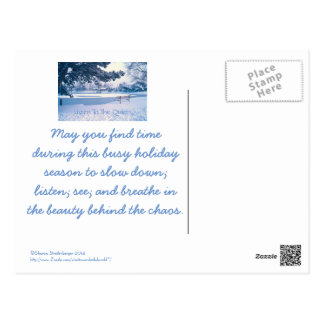 """""""LISTEN TO THE QUIET"""" HOLIDAY POSTCARD"""