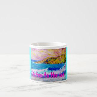 listen to the sea espresso cup