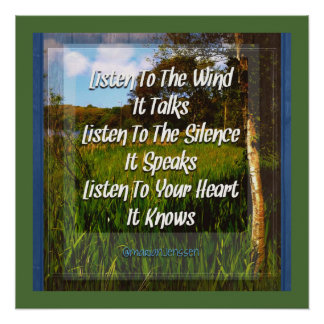 Listen to the wind.. poster