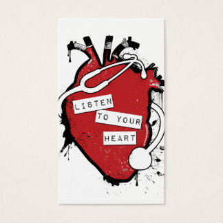 listen to your anatomical heart business card