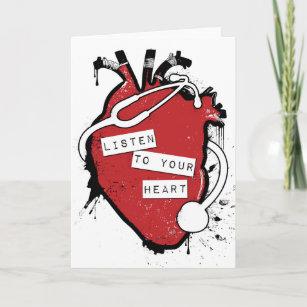 Cross Stitch Ventines Card Anatomical Heart Valentines Card Anatomical Heart Anniversary Card Alternative Valentine/'s Card