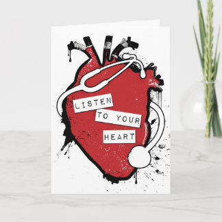 listen to your anatomical heart holiday card