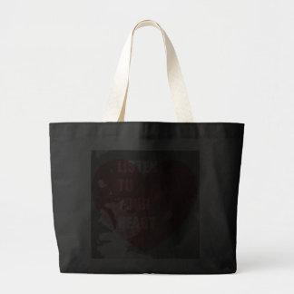 Listen To Your Heart Jumbo Tote Bag
