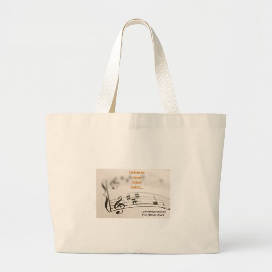 Listen to your inner voice large tote bag
