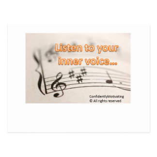 Listen to your inner voice postcard
