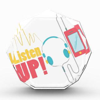 Listen Up Acrylic Award