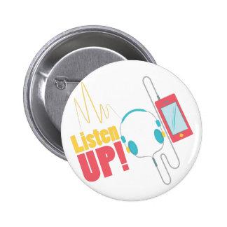 Listen Up 2 Inch Round Button