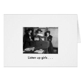 Listen up girls . . . card