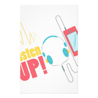 Listen Up Stationery