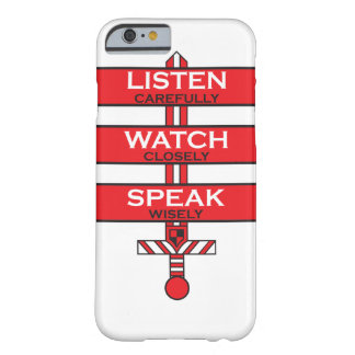 Listen, Watch, Speak Barely There iPhone 6 Case