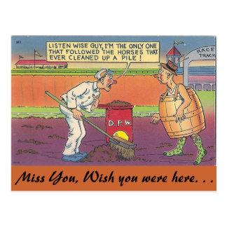 Listen wise guy postcard