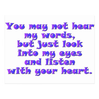 Listen with your heart postcard