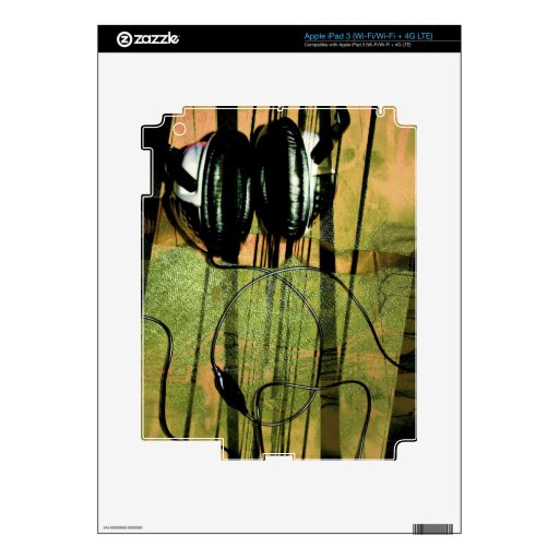 Listening fog Headphones iPad 3 Skin