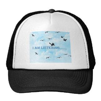 listening trucker hat